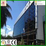 Prefab офисное здание стальной структуры с стеклянной стеной к Tazania