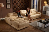 Salone Sofa Leather Sectional con Genuine Leather Sofa