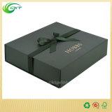 Коробка роскошного Handmade кольца ювелирных изделий упаковывая для изготовленный на заказ логоса (CKT-PB-003)