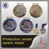 medalha feito-à-medida olímpica do metal do esporte 3D
