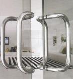 Manija moderna del tirón del acero inoxidable 304 para la puerta de cristal (01-103)