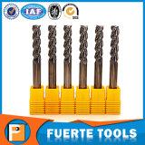 Moinho de extremidade contínuo do carboneto de 3 flautas para o processamento de alumínio