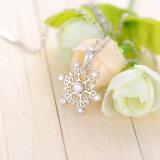 Изготовленный на заказ ювелирные изделия Wholelsale ожерелья снежинки диаманта CZ (CNL0215-B)