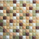Mezclado de mármol del azulejo de colores naturales de mosaico de piedra de jade de suelo de baldosas (FYSL332)
