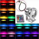 IP68 16 LED Unterwasser-RGB Scheinwerfer der Farben-12V 10W