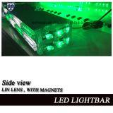 선형 렌즈, Cig 플러그를 가진 2개의 층 LED 소형 Lightbar 경고등