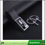 Het goedkope Met de hand gemaakte Leer Keychain van de Verkoop van de Fabriek Directe