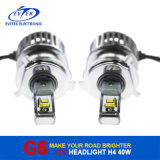 2016 nuevo Arrival First Created Aftermarket 40W 4500lm 6000k H4 Hi/Lo Auto LED Headlamp, LED Motorcycle Headlight, LED Auto Headlight