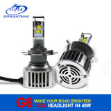 2016 Nieuwe Arrival First Created Aftermarket 40W 4500lm 6000k H4 Hi/Lo Auto LED Headlamp, LED Motorcycle Headlight, LED Auto Headlight
