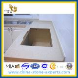 Pedra artificial de quartzo para Counterops com verde/o branco/o cinzento/preto/azul/cor-de-rosa