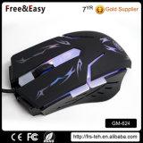 Mouse più poco costoso di gioco di prezzi di fabbrica 6D Blacklit