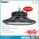 UFO LED High Bay Light 130lm/W High Lumens Low Price 240W 200W di IP65 Waterproof Outdoor