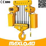 Grua Chain elétrica de 15 toneladas com tipo fixo do gancho (HHBB15-06SF)