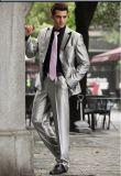 한 벌을 Wedding 모직 감색 턱시도 남자의 외투 바지 디자인을 예약했다