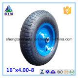 16 Inch 4.00-8 Rubber Pneumatic Air Solid Wheel für Wheelbarrow Hand Trolley