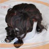 人間の毛髪の女性の赤く高い薄い色のToupee