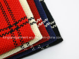 Шарф способа Acrylic 100% красный & черный проверенный сплетенный с краем