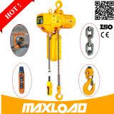 Usage d'élévateur de construction et élévateur à chaînes manuel à chaînes de source d'énergie de main