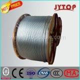 Transmissão aérea, cabo de aço de Reinfored do condutor de alumínio de ACSR, 45/7 de fio de alumínio, padrão de ASTM