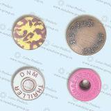 Material de cobre amarillo del botón de los pantalones vaqueros con alta calidad