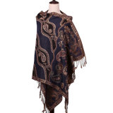 Forma Pashmina do inverno do lenço do jacquard