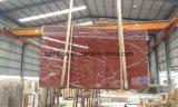 Laje de mármore nova de Rosso Levanto para a parede interior