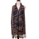 Способ Pashmina зимы шарфа жаккарда
