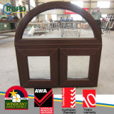 Dobradiça Windows do projeto da grade de indicador do arco do Woodgrain UPVC/PVC
