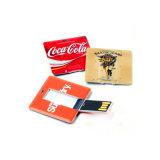 Movimentação magro do flash do USB do cartão de crédito com impressão de cor cheia para Freesample