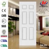 HDF/MDFのプライマー木製の穀物の白いドアの皮(JHK-004)