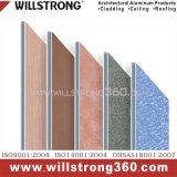 Matière composite en aluminium de texture pour le revêtement de mur