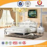 가정 사용 (UL-FT218B)를 위한 2016 최신 특별한 디자인 백색 이탈리아 가죽 침대