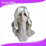Perruque synthétique à la mode et perruque pour cheveux humains