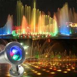 iluminación subacuática colorida de la fuente de 6W LED