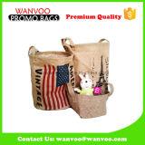 Verpackender Leinenbeutel-Großverkauf mit Reißverschluss-Oberseite Qualtity Organisator
