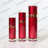 Frasco e frasco cosméticos acrílicos vermelhos de China da chegada nova para o empacotamento do cuidado de pele (PPC-CPS-056)