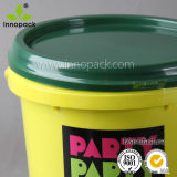 10のリットルのカバーオイルの潤滑油のプラスチックバケツが付いているプラスチック食糧バケツPPの多彩なプラスチックバケツ