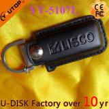 Movimentação quente da pena do USB do couro do estilo do negócio (YT-5103L)