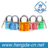 Cadeado Yh9248 transparente colorido com 2 chaves