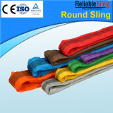 2t Green Colored Polyester Round Webbing Sling