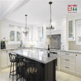 Cabinet de cuisine en bois peint noir et blanc en bois plein de laque