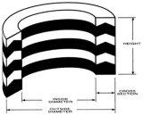 Selos de embalagem Vee hidráulicos de Rubber+Fabric sem adesivos ou expansão para os únicos ou cilindros ativos dobro