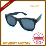 Hot Seling Lichee Wood Sunglasses with Polarised Lens (FX15057)