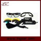 Óculos de sol da forma da margarida C4 de óculos de proteção da tempestade de deserto para a caça