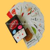 Papier de faisceau noir fait sur commande annonçant des cartes de jeu de tisonnier