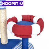 Muebles gatito del árbol del gato con los juguetes colgantes
