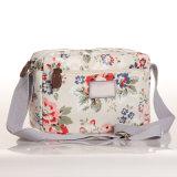 (99032-10) Sac d'épaule floral de l'Angleterre de toile imperméable à l'eau kaki de type
