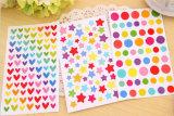 La impresión colorida embroma etiquetas engomadas de la decoración de DIY