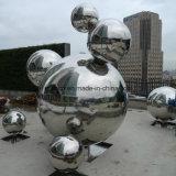 Sculpture en métal extérieure en boule en acier inoxydable personnalisée pour centre commercial