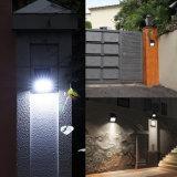 A iluminação ao ar livre Waterproof da luz elevada da noite da lâmpada da montagem da parede do lúmen de 48 diodos emissores de luz a luz psta solar do sensor de movimento